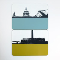 St Paul's Cathedral & Tate Modern Tablemats - The Art Rooms