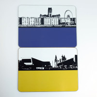 Placemats of Albert Dock & Museum of Liverpool - Jacky Al-Samarraie