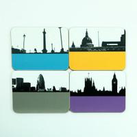 London set of drinks coasters by Jacky Al-Samarraie