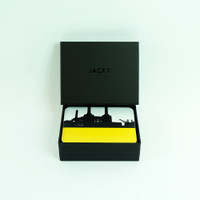 Set of 8 London Coasters with Luxury Black Gift Box- Jacky Al-Samarraie