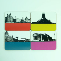 Liverpool Coaster Set by Jacky Al-Samarraie