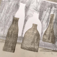 Bottle monotype print Jacky Al-Samarraie