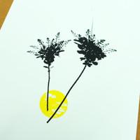 Smoke-tree floral screen-print by Jacky Al-Samarraie