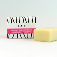 Organic Soap Bar - Pomegranate & Pink Pepper by Jacky Al-Samarraie