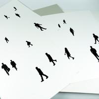 Set of 3 'People' screen prints by Jacky Al-Samarraie