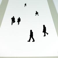 People screen print No.2 close up by Jacky Al-Samarraie