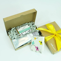 Gift Box with fig & grape soap and neroli & lavender Shea butter by Jacky Al-Samarraie