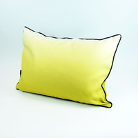 Mustard landscape silhouette cushion with ombre back by designer Jacky Al-Samarraie