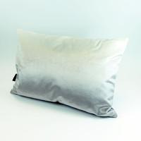 Grey velvet landscape silhouette cushion with ombre back by designer Jacky Al-Samarraie