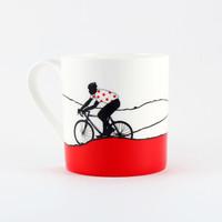 Jacky Al-Samarraie Red Jersey Cycling Bone China Mug