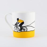Jacky Al-Samarraie Yellow Jersey Cycling Bone China Mug