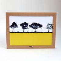 Box set of 6 rural Landscape table mats by Jacky Al-Samarraie