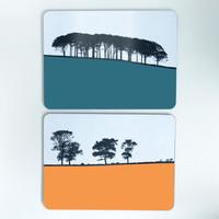 Silhouette Landscape table mats by Jacky Al-Samarraie