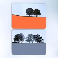 Landscape table mats by Jacky Al-Samarraie
