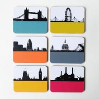 London Landmark Coaster set by Jacky Al-Samarraie