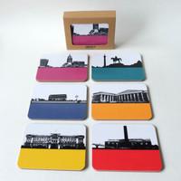 Box set of 6 London Coasters by Jacky Al-Samarraie
