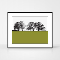 Landscape print of Keswick in the Lake District by designer Jacky Al-Samarraie.  Shown in frame for reference.