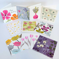 Box set of flower greeting cards by Jacky Al-Samarraie