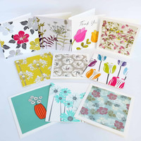 Floral greeting cards by Jacky Al-Samarraie. Box set of 20 cards.