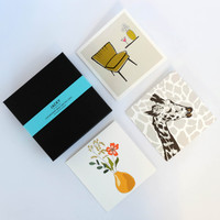 Luxury box set of 20 contemporary greeting cards by Jacky Al-Samarraie