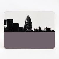 Gherkin London melamine table mat by Jacky Al-Samarraie