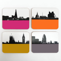 London Drinks drinks coaster set by Jacky Al-Samarraie
