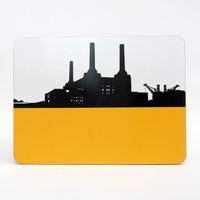 Battersea Power Station London melamine coaster by Jacky Al-Samarraie