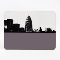 Gherkin London melamine coaster by Jacky Al-Samarraie