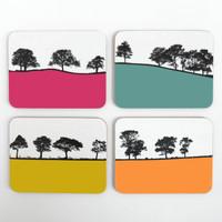 Jacky Al-Samarraie Melamine Landscape Coaster set