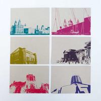 Jacky Al-Samarraie Set of 12 Liverpool Postcards
