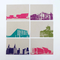 Jacky Al-Samarraie Set of 12 Recycled Liverpool Postcards