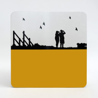 Jacky Al-Samarraie Birdwatching at Cley Marshes Table Mat