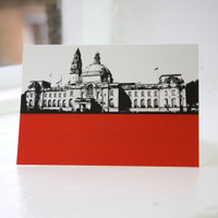 Jacky Al-Samarraie Cardiff City Hall Greeting Card