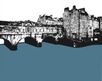 Jacky Al-Samarraie Pulteney Bridge - Bath Greeting Card