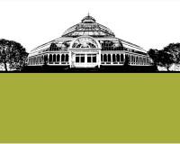 Jacky Al-Samarraie Palm House - Liverpool Greeting Card