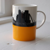 Jacky Al-Samarraie Waterloo Bridge & St. Pauls Bone China Mug