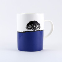 Blue landscape mug, Grassington Yorkshire Dales by The Art Rooms