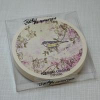 Jacky Al-Samarraie Vintage Style Bird Drink Coaster Set