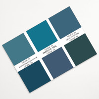 The Art Rooms Landscape Print Swatch Colours - Teal