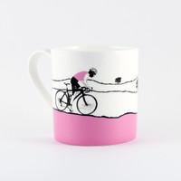 Jacky Al-Samarraie Female Cycling Pink Jersey China Mug