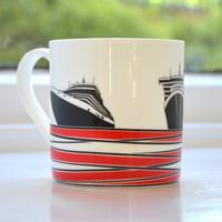 Jacky Al-Samarraie Ships Bone China Mug - Red