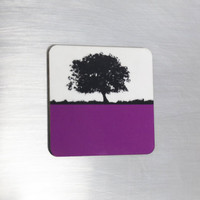 Jacky Al-Samarraie Fridge Magnet - Purple