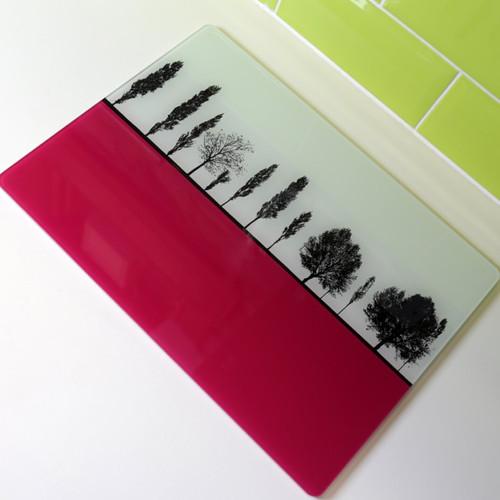 Jacky Al-Samarraie Landscape Glass Worktop Saver - Pink