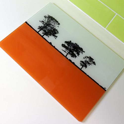 Jacky Al-Samarraie Landscape Glass Worktop Saver - Orange
