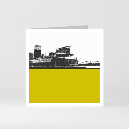 Jacky Al-Samarraie Lowry & Salford Quays Greeting Card