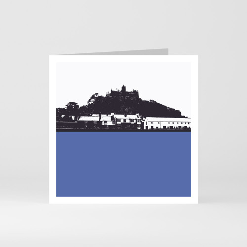 Jacky Al-Samarraie Cornwall Greeting Card of St Michaels Mount