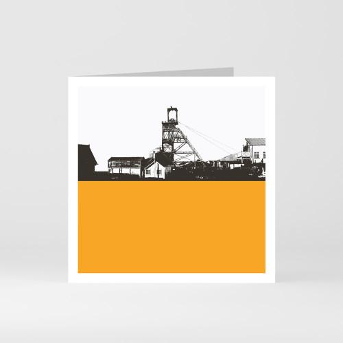 Jacky Al-Samarraie Cornwall Greeting Card of Geevor Tin Mine in Penzance