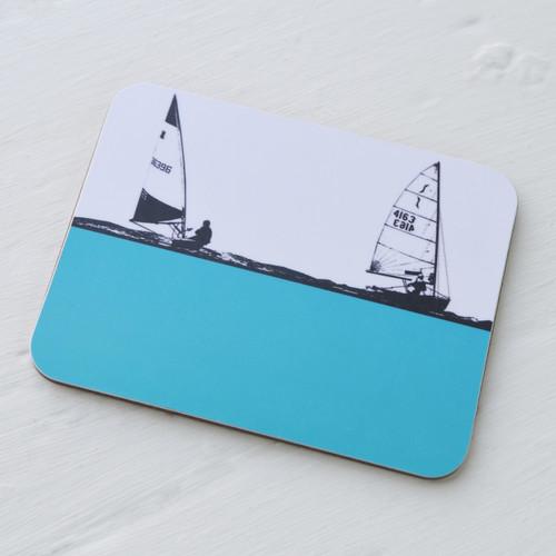 Sailing Boat Melamine Coaster