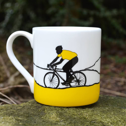 Yellow Jersey Bone China Mug