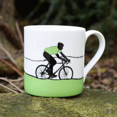Green Jersey Bone China Cycling mug